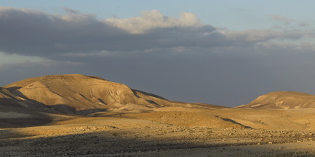 Scenic view of desert, Judean Desert, Dead Sea Region, Israel Stock Photo