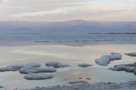Scenic view of salt lake, Dead Sea, Israel