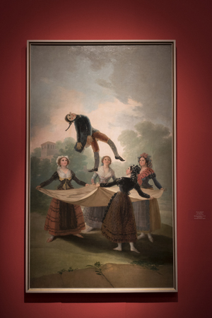 The Straw Manikin painting by Francisco Goya, Israel Museum, Jerusalem, Israel