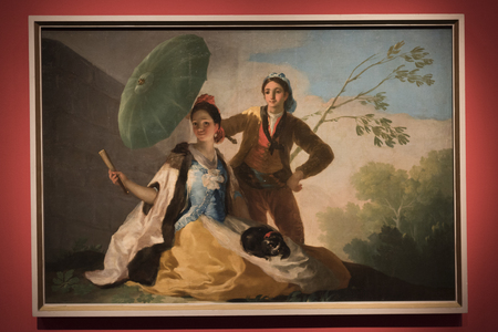 Daydreams and Nightmares painting by Francisco Goya, Israel Museum, Jerusalem, Israel Editorial
