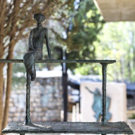 Close-up of metal sculpture, Ein Hod, Haifa District, Israel