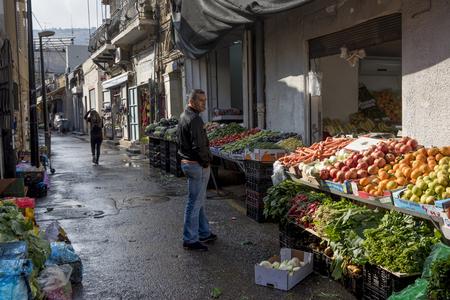 Fruits and vegetable for sale at market, Haifa, Haifa District, Israel