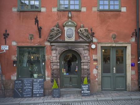 Facade of store, Gamla Stan, Stockholm, Sweden