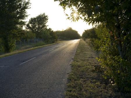 Scenic view of road, Kostol, Kladovo, Bor District, Serbia Stock Photo