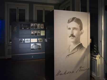 Painting of Tesla Vasenka in Nikola Tesla Museum, Belgrade, Serbia
