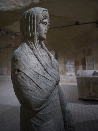 Statue in Big Gunpowder Warehouse, Belgrade Fortress, Belgrade, Serbia 免版税图像