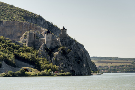 Medieval Golubac Fortress on the south side of the Danube River, Golubac, Serbia
