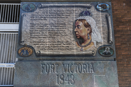 Queen Victoria Memorial Plaque at Fort Victoria, Victoria, Vancouver Island, British Columbia, Canada
