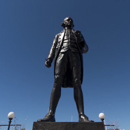 Statue of Captain James Cook, Victoria, Vancouver Island, British Columbia, Canada