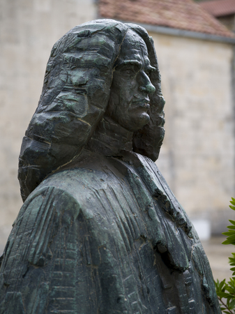 Close-up of statue of Matija Zmajevic, Perast, Bay of Kotor, Montenegro