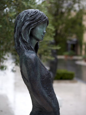 Close-up of a statue of a woman, Montenegro Imagens