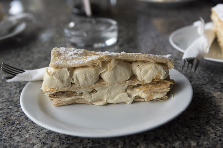 Close-up of Krempita, a traditional Montenegrin dessert, Budva, Montenegro Stock Photo
