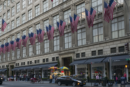 Exterior view of Saks Fifth Avenue, Fifth Avenue, Midtown Manhattan, New York City, New York State, USA