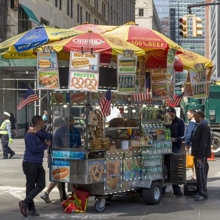 Food stall, New York City, New York State, USA