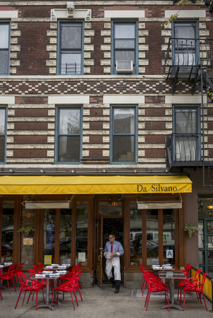 Exterior of restaurant Da Silvano, New York City, New York State, USA