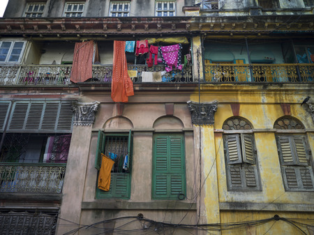 Low angle view of old buildings, Kolkata, West Bengal, India Editorial