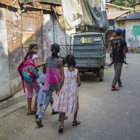People walking in street, Kolkata, West Bengal, India Stock Photo - 120229116