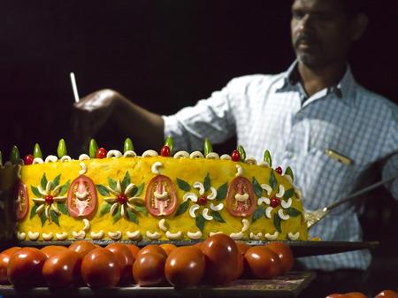 Man selling snack, Kolkata, West Bengal, India