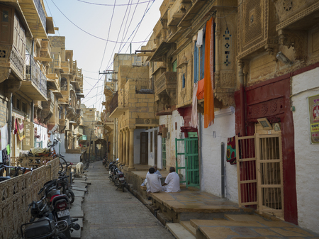 Narrow alley, Jaisalmer, Rajasthan, India
