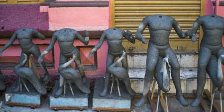 Incomplete statues, Kumartuli, Kolkata, West Bengal, India Editorial