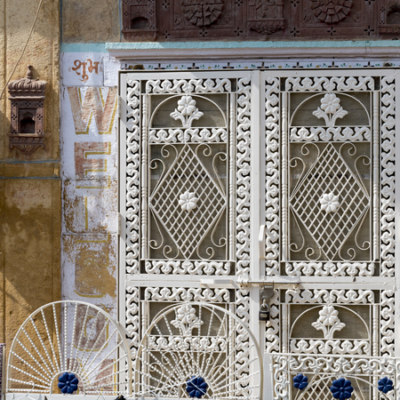 Details of closed door, Kishan Ghat, Jaisalmer, Rajasthan, India