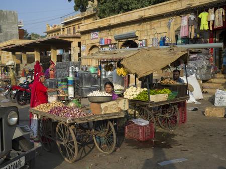 Street market, Jaisalmer, Rajasthan, India Redakční