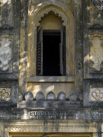 Window of Students Hall Building, Calcutta University, Kolkata, West Bengal, India