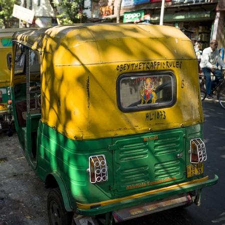 Auto rickshaws on a street, Abhedananda Road, Kolkata, West Bengal, India Editorial