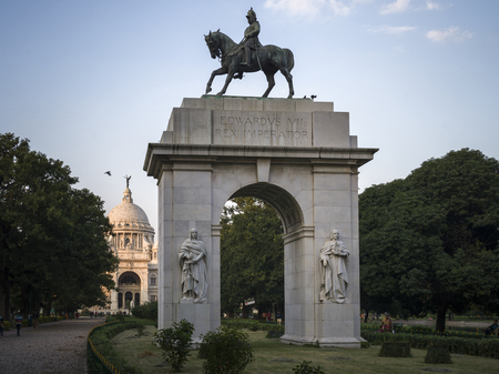 King Edward VII arch, Victoria Memorial, Kolkata, West Bengal, India Editorial