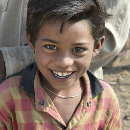 Portrait of a happy boy, Jaisalmer, Rajasthan, India