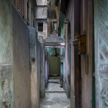 Narrow alley, Kolkata, West Bengal, India Stock Photo