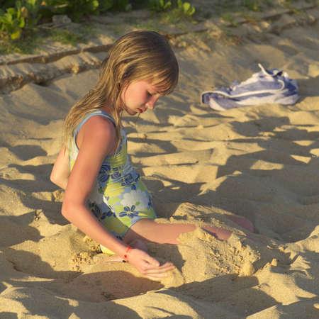 bath: Family Vacation - Hawaiian Islands of Molokai and Kauai Stock Photo