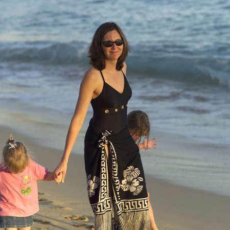 kauai: Family Vacation - Hawaiian Islands of Molokai and Kauai Stock Photo