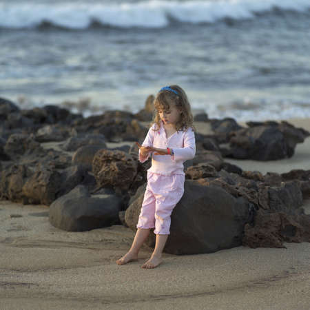holidaying: Family Vacation - Hawaiian Islands of Molokai and Kauai Stock Photo
