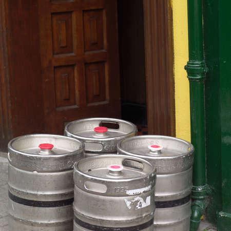 kegs: Ireland - pubs Stock Photo
