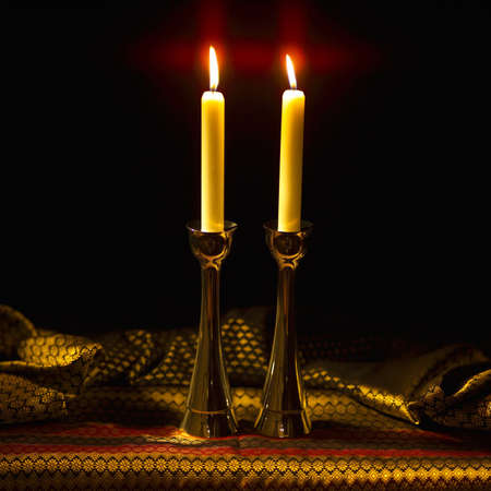 seder: Symbols of Judaism Stock Photo