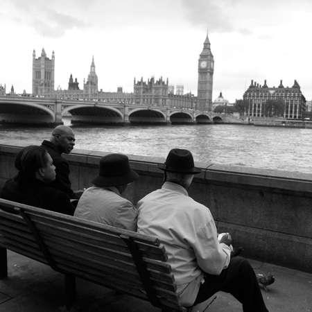 distinction: London - Thames River Stock Photo