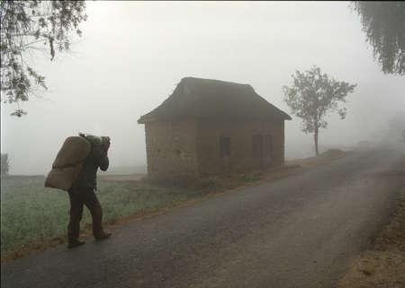 aloneness: Man with Sack - Nepal