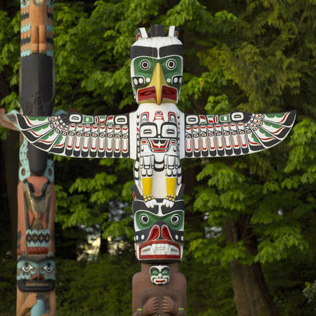 Totem Poles - Stanley Park, Vancouver, British Columbia Stock Photo - 180043