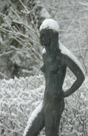 Leo Mol Sculptures - Assinibione Park, Winnjpeg Canada Stock Photo - 180243