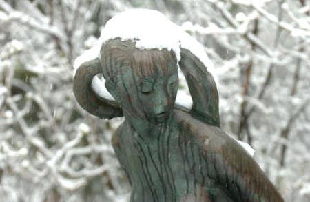 Leo Mol Sculptures - Assinibione Park, Winnjpeg Canada Stock Photo - 180246