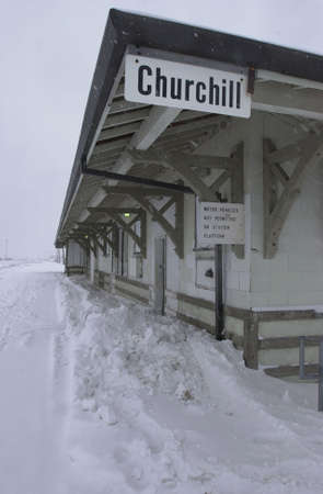 churchill: Churchill - Northern Manitoba, Canada in Winter