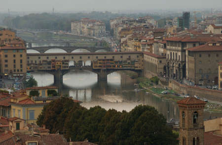 florence italy: Aerial View of Florence Italy