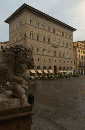 awnings: Buildings of Florence, Italy