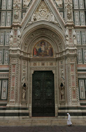 entranceway: Duomo Cathedral - Florence, Italy Stock Photo