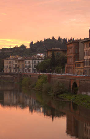 Arno River - Florence, Italy photo