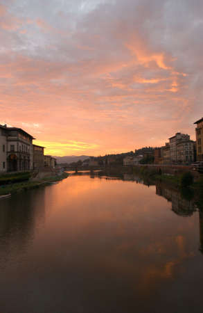 florence italy: Arno River - Florence, Italy
