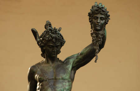 conflicting: Statues of Florence, Italy Stock Photo