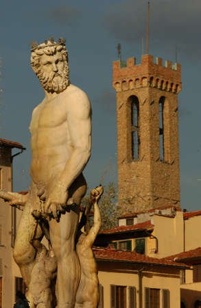 nudes: Statues of Florence, Italy Stock Photo
