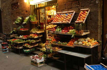 foodie: Street of  Florence Italy Stock Photo